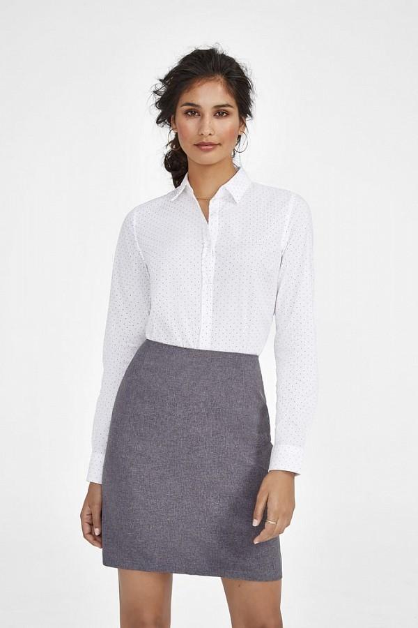 4e0636e921c1 Рубашка женская BECKER WOMEN, бордовая с белым, арт. 01649502 ...